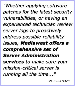 Mediawest: Managed website hosting solutions.